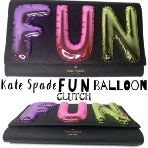 Kate Spade ♠️ FUN Clutch Rare Balloon 🎈 Bag